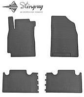 Коврики резиновые в салон Geely Emgrand X7 2013- Комплект из 4-х ковриков Черный в салон. Доставка по всей Украине. Оплата при получении