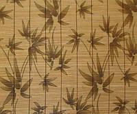 Обои бамбуковые, простроченные, листья бамбука, AF-01G, ширина рулона  0,92м, 1,8м