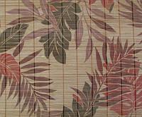 Обои бамбуковые, простроченные, листья бамбука, AF-02R, ширина рулона 0,92м, 1,8м