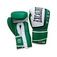 Перчатки боксерские Excalibur 529-03 Trainer (14 oz) белый/зеленый