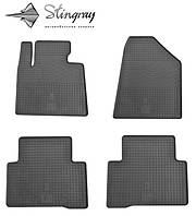 Коврики резиновые в салон Hyundai Santa Fe 2013- Комплект из 4-х ковриков Черный в салон. Доставка по всей Украине. Оплата при получении