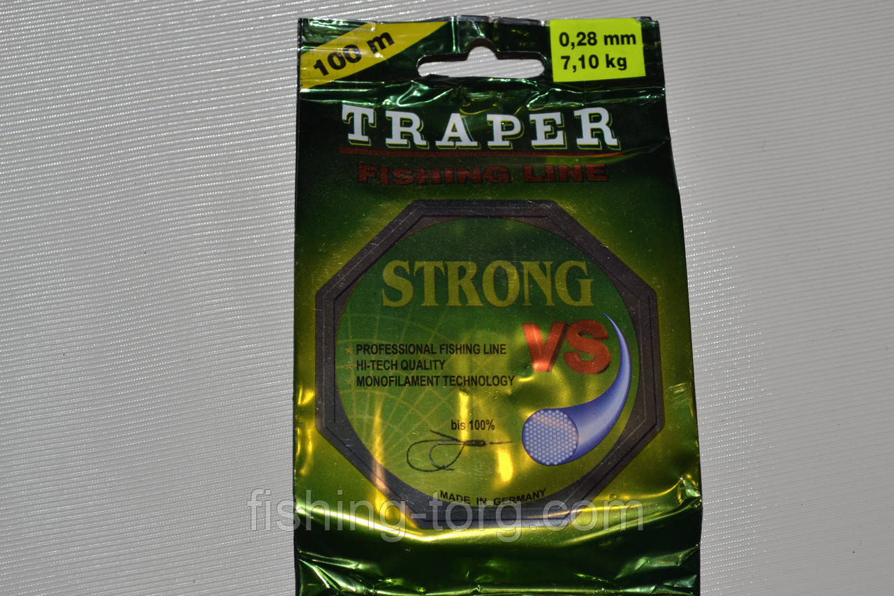 плетеная лескаTRAPER STRONG VS 100метров, 0.20