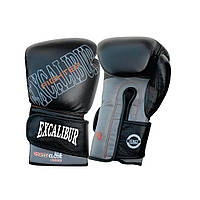 Перчатки боксерские Excalibur 529-07 Thunder (14 oz) серый/черный