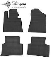 Коврики резиновые в салон Hyundai Tucson TL 2015- Комплект из 4-х ковриков Черный в салон. Доставка по всей Украине. Оплата при получении