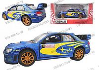 Машинка КТ 5328 W, Subaru Impreza WRC 2007, Kinsmart, металлическая, инерционная, гоночный автомобиль 12,5 см