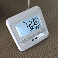 Терморегулятор (программатор) для теплого пола (комнатный термостат) Floureon C08 с 2-мя датчиками температуры