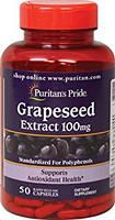 Grape seed Extract 100 mg Puritan's Pride, 50 капсул