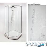 IDO Showerama 8-5 49851-19-010 Душевая  кабина. Серебристый, Dandelion, Узорчастое  (ШхДхВ) 100х100х2250