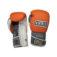 Перчатки боксерские Excalibur 551-04 Ultimate (14 oz) оранжевый/серый