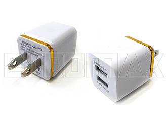 Зарядное устройство 2USB 5В 3,1А GT-004-YU-300-1