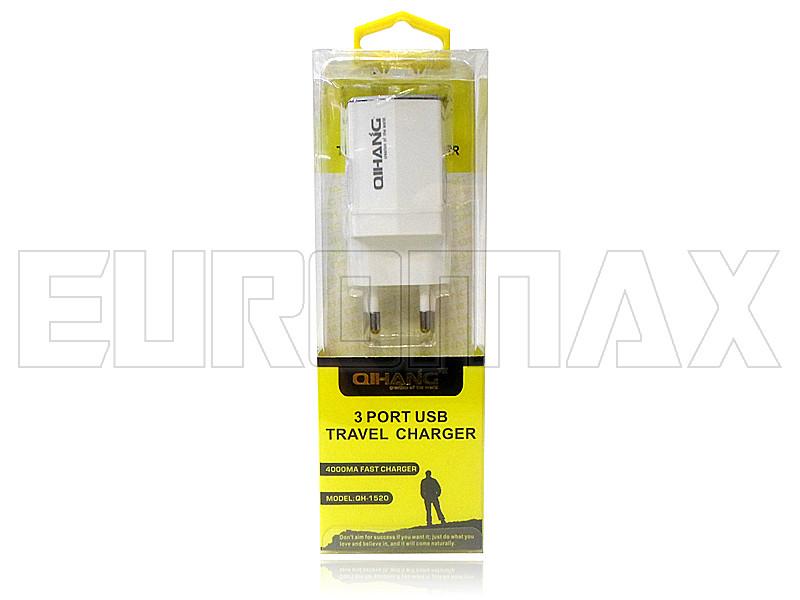 Зарядное устройство 3USB 5В 4А XD-005-QH-1520