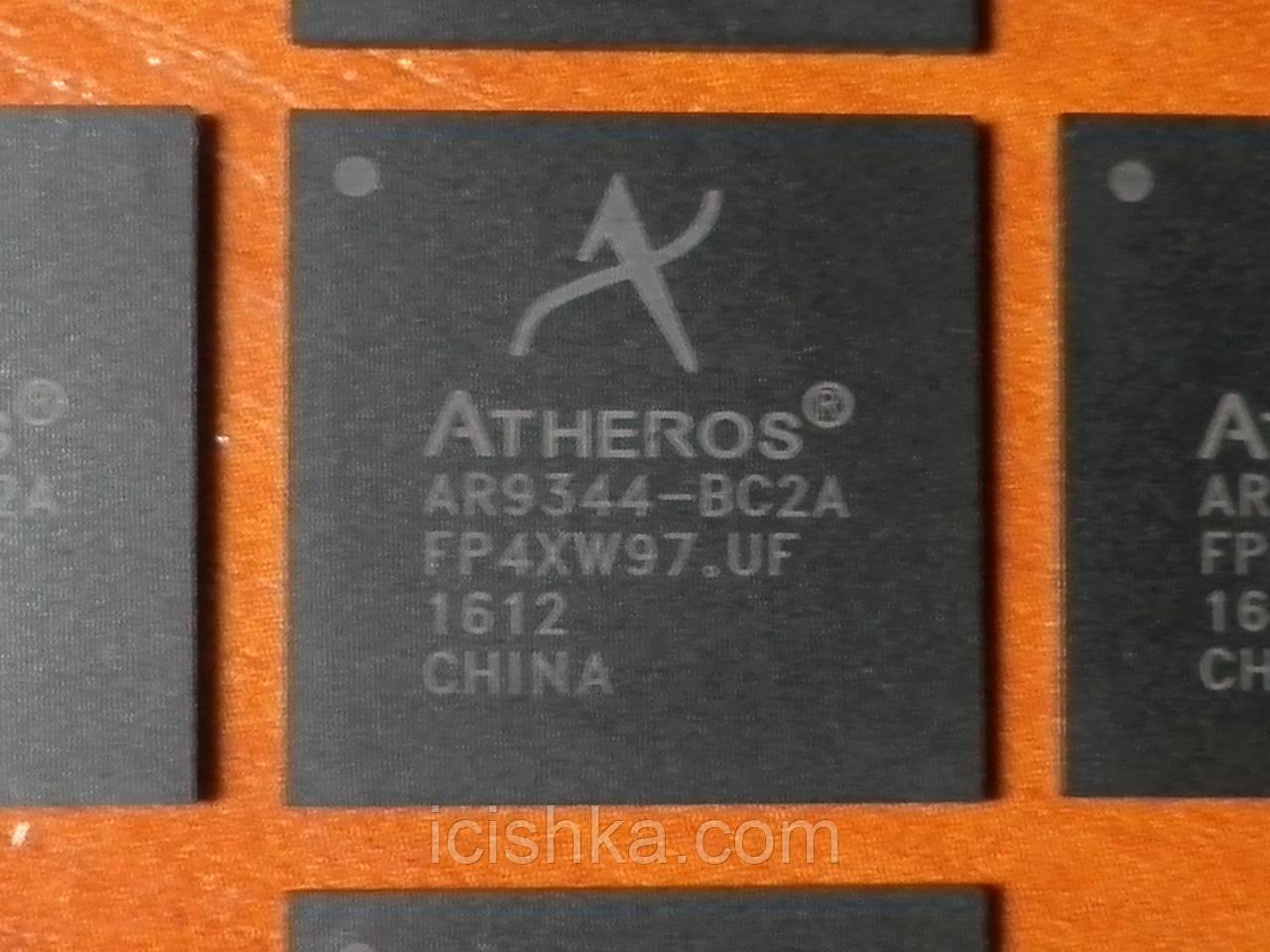 Atheros AR9344-BC2A BGA409 - SoC IEEE 802.11n 2x2 2.4/5 GHz - однокристальный сетевой процессор