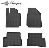 Коврики резиновые в салон Nissan Micra K12 2003- Комплект из 4-х ковриков Черный в салон