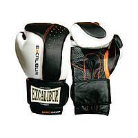 Перчатки боксерские Excalibur 559 Punch 2 (14 oz) белый/черный