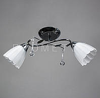Люстра потолочная на 2 лампочки (хром) P3-37392/2C/CR+WT