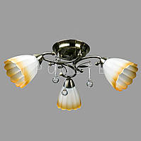 Люстра потолочная на 3 лампочки (античная бронза) P3-37392/3C/AB+BN