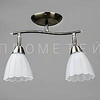 Люстра спот потолочная на 2 лампочки (античная бронза) P3-76922/2C/AB+WT