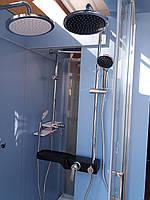 Душевая система с тропическим душем и смесителем Q-TAP 1104 хром/черная
