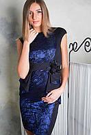 """Платье """"Кармэн"""" (черный+темно-синий)"""