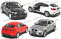 Машинка инерционная KT 5336 W, модель BMW X6, Kinsmart, металлическая, 13 см, в коробке