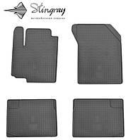 Коврики резиновые в салон Suzuki Swift  2005- Комплект из 4-х ковриков Черный в салон. Доставка по всей Украине. Оплата при получении