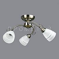 Люстра на 3 лампочки для низких потолков AB (античная бронза)  P3-2697/3C/AB+WT (4шт. - ящ.)