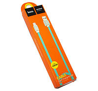Кабель Hoco Waffle Lightning (Apple iPhone 5\6) Flat 1.2M 2.1A UPL18, blue