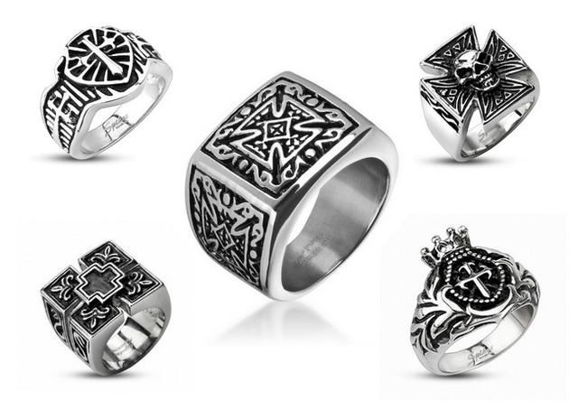 Мужские кольца из серебра 925 пробы и серебра с золотыми вставками 375 пробы