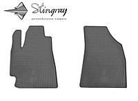 Коврики резиновые в салон Toyota Highlander  2008- Комплект из 2-х ковриков Черный в салон. Доставка по всей Украине. Оплата при получении