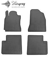 Коврики резиновые в салон Toyota RAV 4 2000-2006 Комплект из 4-х ковриков Черный в салон. Доставка по всей Украине. Оплата при получении
