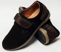 Детские туфли для мальчика на липучке, детская обувь 32-39 от производителя модель ДЖ-3716