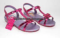 Яркие, малиновые металлик босоножки для девочки Barbie 24, 26, 27, 28 размер