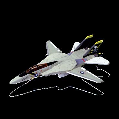Объемный пазл Истребитель-перехватчик F-14A VF-84 Jolly Roger (Веселый Роджер) 4D Master (26200)