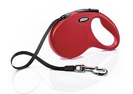 Flexi Classic M лента 5 метров до 25 кг поводок-рулетка для собак