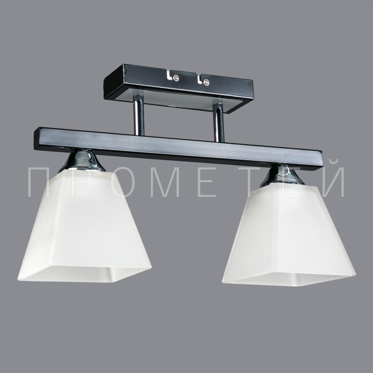 Припотолочная люстра на две лампочки P3-26405/2C/BK+CR+WT