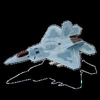 Объемный пазл Многоцелевой истребитель F-22A Raptor (Ящер) 4D Master (26201)