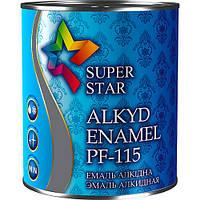 Эмаль алкидная ПФ-115, тёмно-серая, ТМ SUPER STAR / код цвета №18 / по 2,8 кг