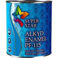 Эмаль алкидная ПФ-115, ярко-голубая, ТМ SUPER STAR / код цвета №46 / по 2,8 кг