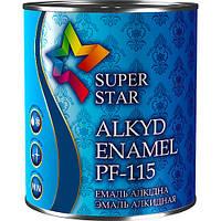 Эмаль алкидная ПФ-115, синяя, ТМ SUPER STAR / код цвета №48 / по 2,8 кг
