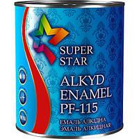 Эмаль алкидная ПФ-115, красная, ТМ SUPER STAR / код цвета №75/ по 2,8 кг