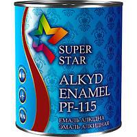 Эмаль алкидная ПФ-115, тёмно-вишнёвая, ТМ SUPER STAR / код цвета №76 / по 2,8 кг