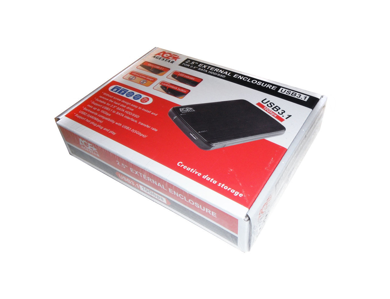 Карман внешний 2,5' Agestar 31UB2A12 Black SATA USB3.1 - Sale365 в Николаеве