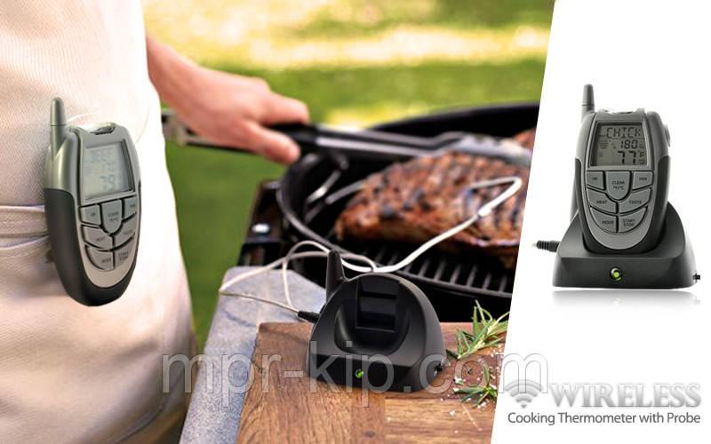 Бездротовий термометр (до 100 м) з щупом для приготування їжі CVMH-G353 (-10 до +250 °С) З ф-їй Будильник