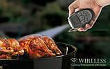 Бездротовий термометр (до 100 м) з щупом для приготування їжі CVMH-G353 (-10 до +250 °С) З ф-їй Будильник, фото 5