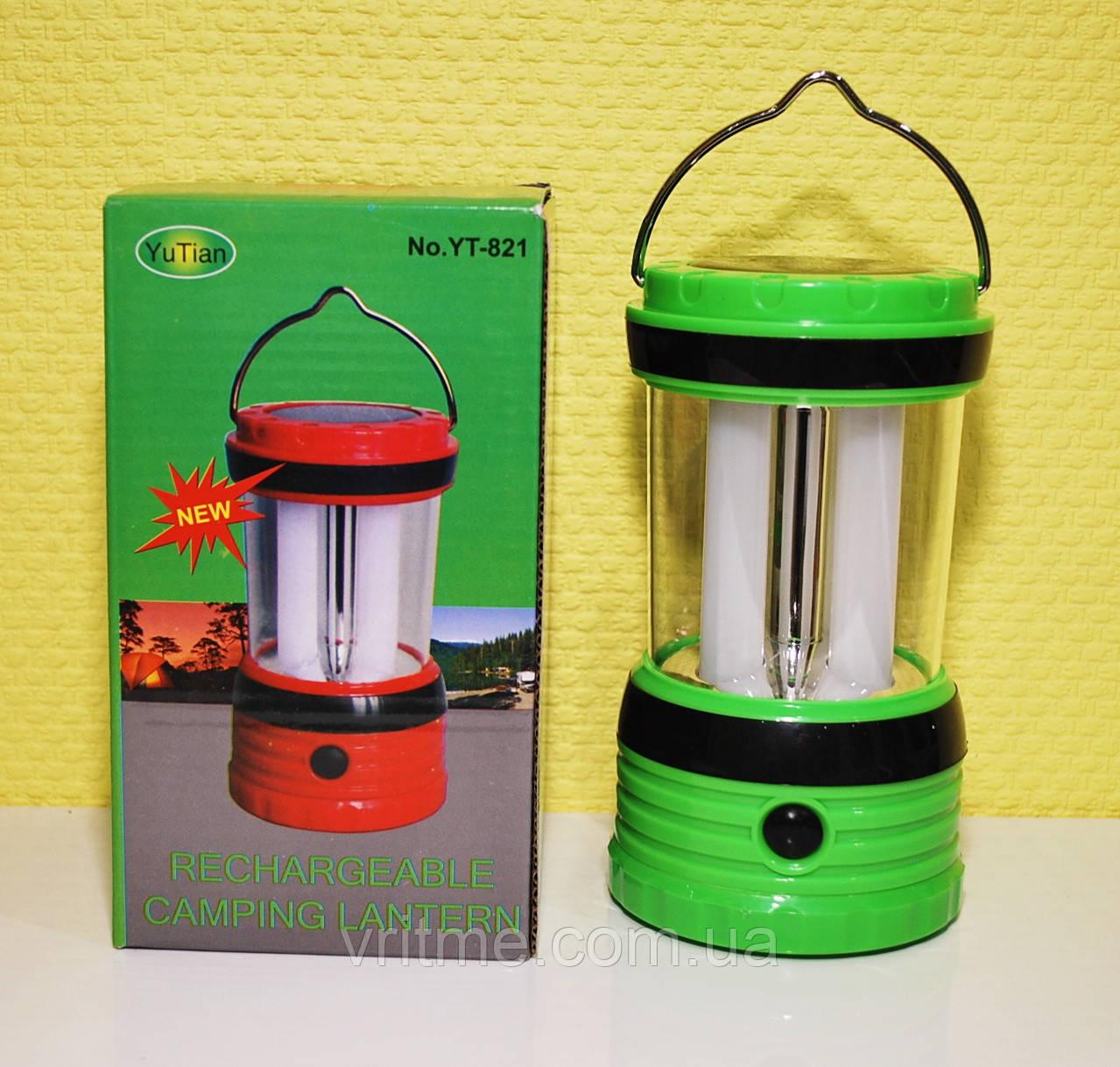 Кемпинговый LED Фонарь-лампа Yajia YT-821 с cолнечной батареей