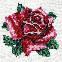 Нежная роза. Луиза. Схема на ткани для вышивания бисером