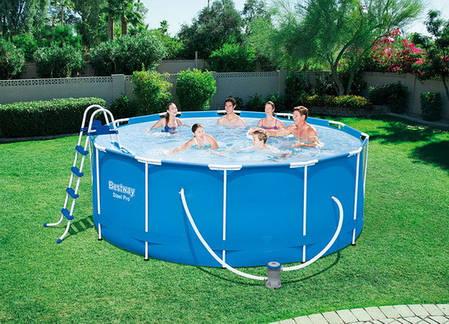 Каркасный семейный бассейн для дачи bestway 56420 366*122 см., фото 2