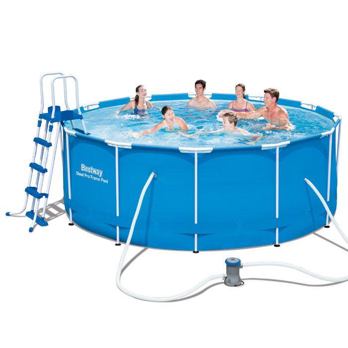Каркасный семейный бассейн для дачи bestway 56420 366*122 см.