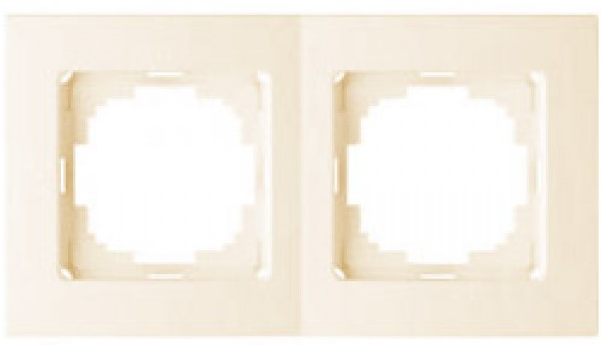 NILSON THOR Рамка двойная кремовая