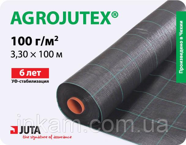 Агроткань от сорняков Agrojutex черная плотность 100г/кв.м 3,30 х 100 м